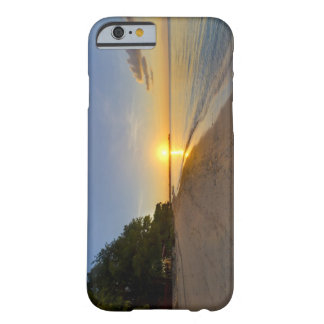 Golden Sun Ball Setting Over Tropical Island Barely There iPhone 6 Case
