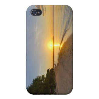 Golden Sun Ball Setting Over Tropical Island iPhone 4 Cover