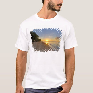 Golden Sun Ball Setting Over Tropical Island T-Shirt