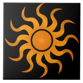 Golden Sun Black Tile - Large