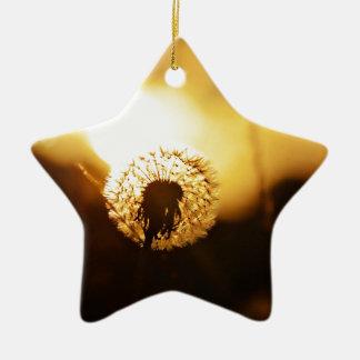 golden sun dial christmas ornament