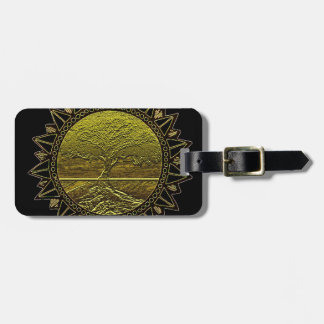 Golden Sun Luggage Tag