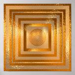 Golden Sun Mandala - Warm Regards Poster