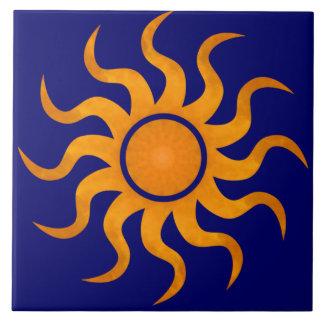 Golden Sun Midnight Blue Tile - Large