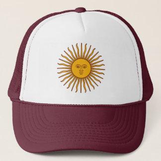 Golden Sun of May Argentina Flag Beach Hat