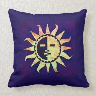Golden Sun on Purple Cushion