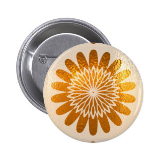 Golden Sunflower ART decoration 6 Cm Round Badge