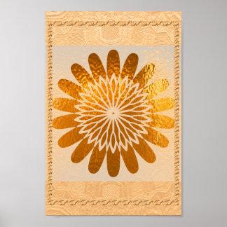 Golden  Sunflower Sparkle   Decorations Poster