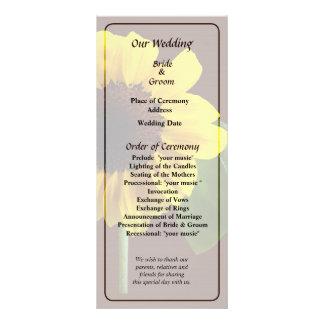 Golden Sunflower Wedding Program Rack Card