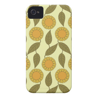Golden Sunflowers Pattern iPhone 4 Case-Mate ID™