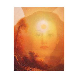 Golden Sunrise Angel Canvas Print