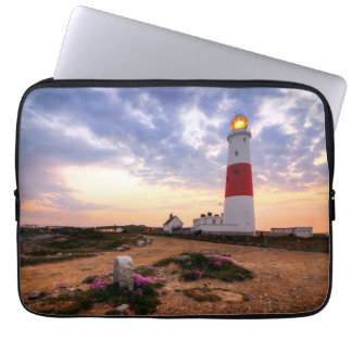 Golden Sunrise At Portland Bill Lighthouse Laptop Sleeve