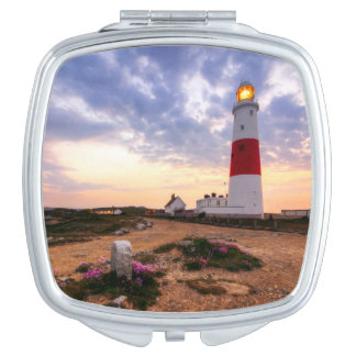 Golden Sunrise At Portland Bill Lighthouse Makeup Mirrors