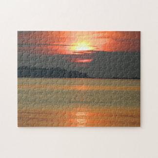 Golden Sunrise Seascape Jigsaw Puzzle