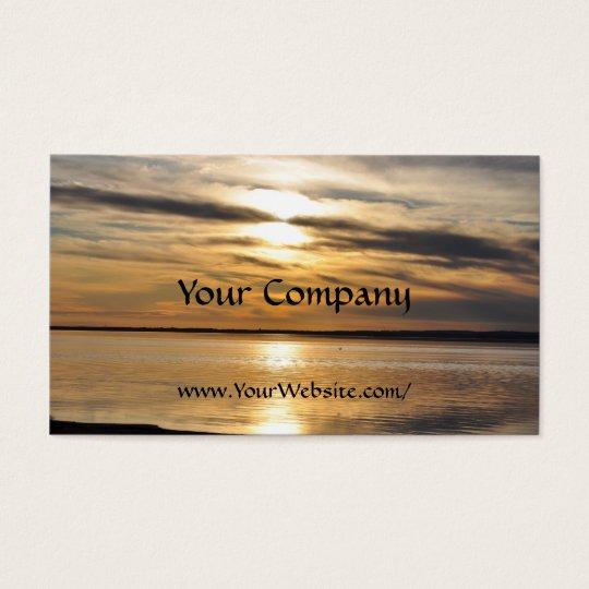 Golden Sunset 3 - business card template