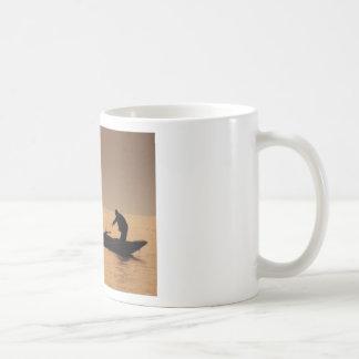 Golden SUNSET and a BOAT Mug