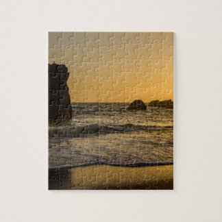 Golden Sunset at the Ocean Jigsaw Puzzle
