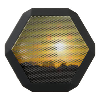 Golden sunset black bluetooth speaker
