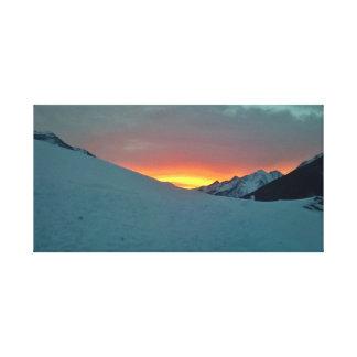 Golden Sunset Canvas Print