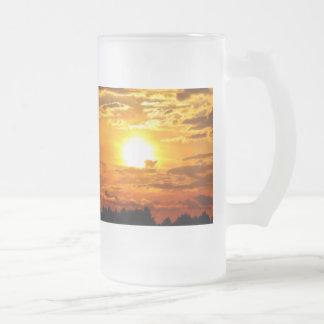 Golden Sunset Clouds Nature Photography Art Mug