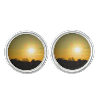 Golden sunset cuff links