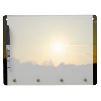 Golden sunset dry erase board with key ring holder