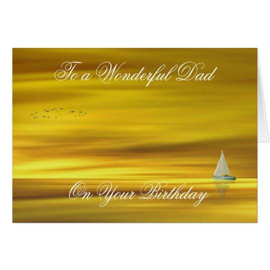 GOLDEN SUNSET FATHERS BIRTHDAYDAY CARD