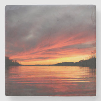 Golden Sunset Marble Coaster Stone Beverage Coaster