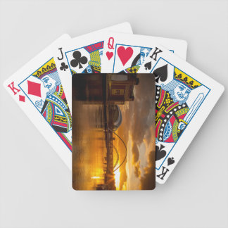 Golden sunset on the River Tyne Bicycle Playing Cards