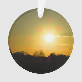 Golden sunset ornament