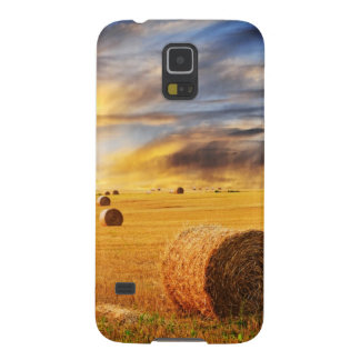Golden Sunset Over Farm Field Galaxy S5 Cover