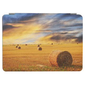 Golden Sunset Over Farm Field iPad Air Cover