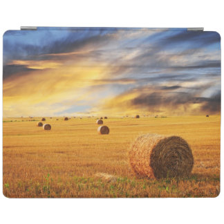 Golden Sunset Over Farm Field iPad Cover