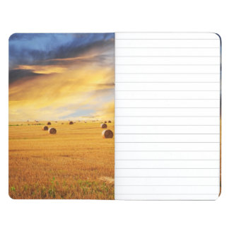 Golden Sunset Over Farm Field Journal