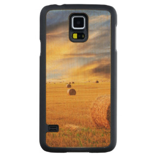 Golden Sunset Over Farm Field Maple Galaxy S5 Slim Case