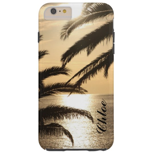 Golden sunset phone case