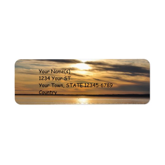 Golden Sunset - return address labels