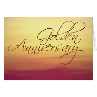 Golden Sunset Wedding Anniversay Greeting Cards