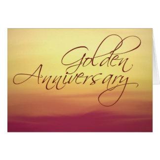 Golden Sunset Wedding Anniversay Greeting Cards