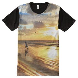 Golden Surf Sunset All-Over Print T-shirt