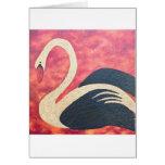 Golden Swan Greeting Card