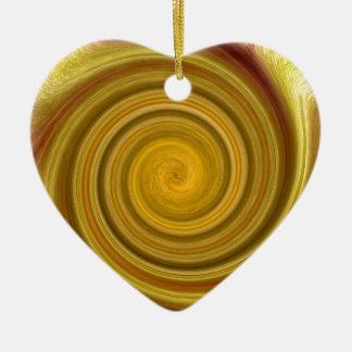 Golden Swirl Christmas Ornament