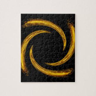 Golden Swirl Jigsaw Puzzle