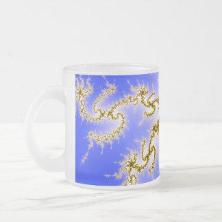 Golden Swirl on Blue - fractal design Coffee Mug