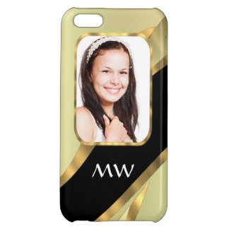 Golden swirl photo template iPhone 5C case