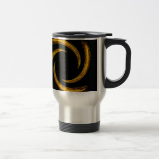 Golden Swirl Travel Mug