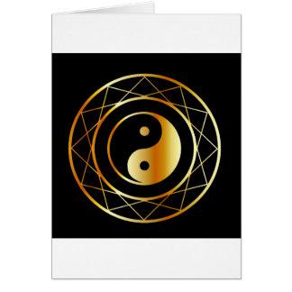Golden symbol of Taoism Daoism Greeting Card