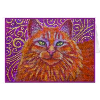 Golden Tabby Cat greeting card