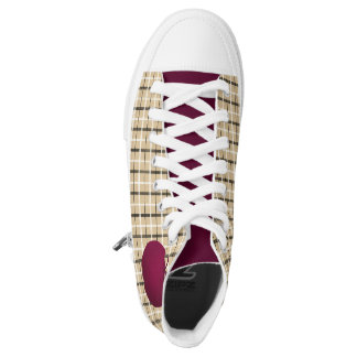 Golden Tartan Purple Apple Fruit Chic Beautiful High Tops