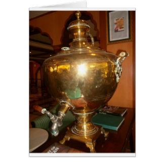 Golden tea Pot Greeting Card